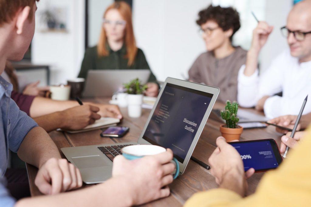 people in business meeting